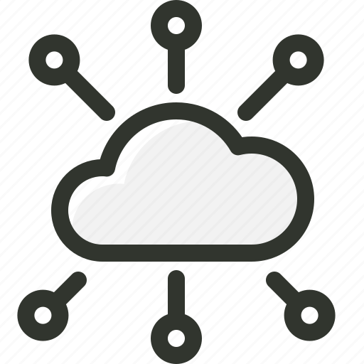 cloud, computing, connection, network, share icon
