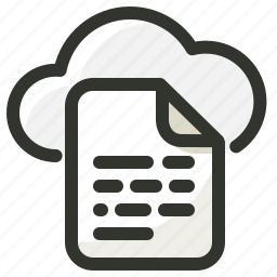 cloud, data, document, file, storage icon