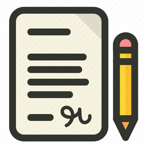 agreement, contract, document, writing icon