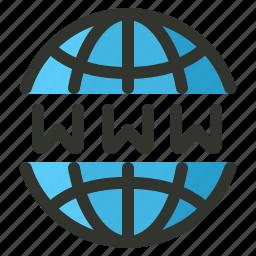 domain, internet, network, www icon