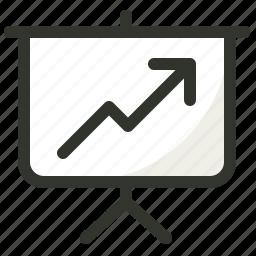 growth, presentation, ranking, statistics icon