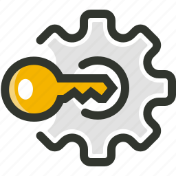 key, passkey, password, security, settings icon
