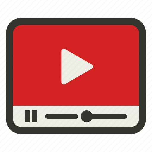 movie, player, video, youtube icon