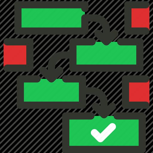 implementation, plan, planning, workflow icon