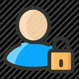 account, information, private, profile, secure icon