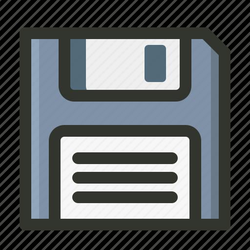 diskette, floppy, save, storage icon