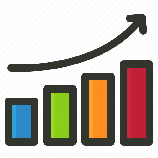 growth, index, ranking, report, search engine icon