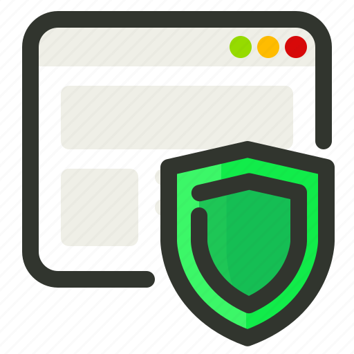 Browser, protection, shield, web, security icon - Download on Iconfinder