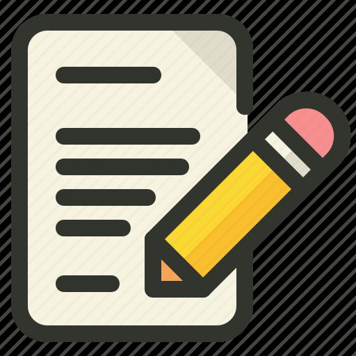 content, edit, editing, writing icon