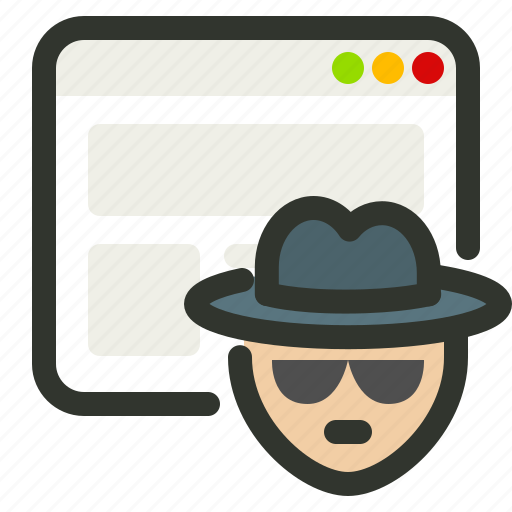 browsing, incognito, private, window icon