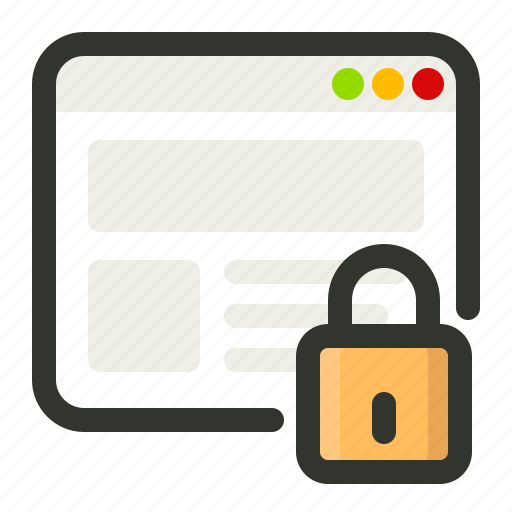 browser, browsing, lock, private icon