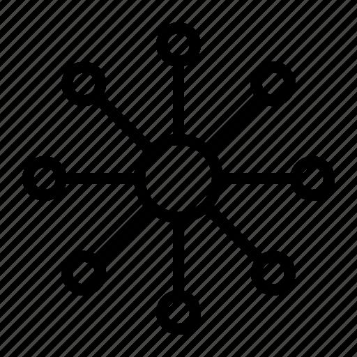 community, network, seo, share, web icon