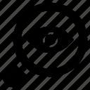 analysis, eye analysis, monitoring, research, review icon