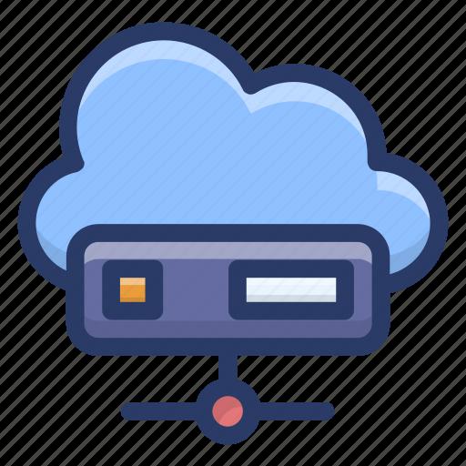 cloud computing, cloud data server, cloud hosting, cloud storage, cloud technology icon