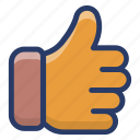 appreciation, assessment, customer rating, evaluation, feedback, thumbs up icon
