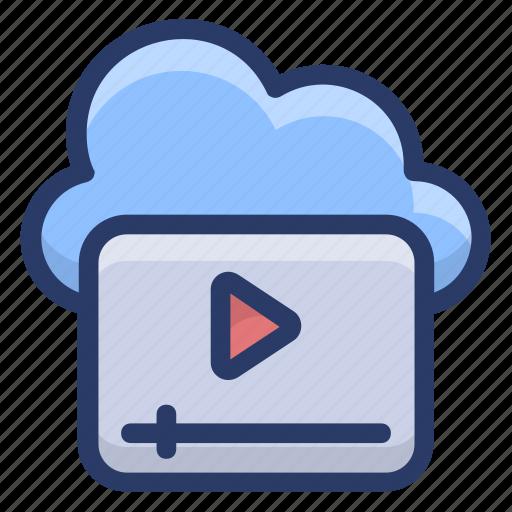 cloud video marketing, digital marketing, online video, video advertising, video streaming icon