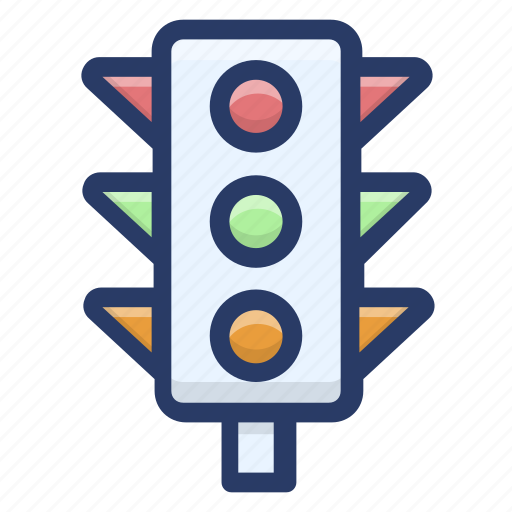 signal light, traffic lamps, traffic light, traffic sign, traffic signals icon