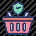 safe shopping, secure e-commerce, secure purchasing, secure shopping, shopping protection icon