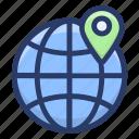 geolocation, gps, navigation, search global location, worldwide location icon