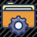 archives management, data management, document, file setting, folder management, folder setting icon