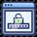 account login, internet security, web login, web protection, web security, website security icon