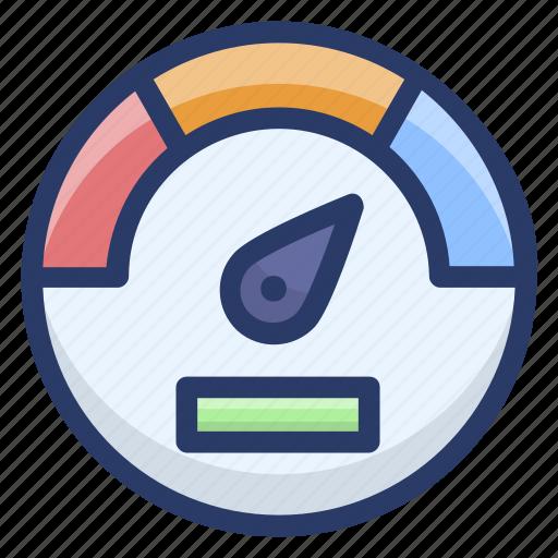 dashboard, gauge, meter, odometer, speedometer, velocimeter icon