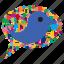 animal, bird, bubble, concept, speech, twitter, web icon