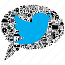 bird, bubble, internet, media, seo, spech, twitter icon
