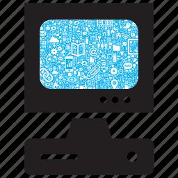 computer, connection, desktop, internet, media, pc, web icon