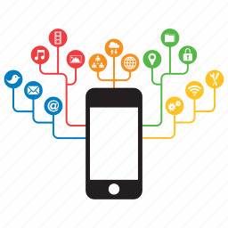 concept, connectivity, device, internet, iphone, phone, smartphone icon