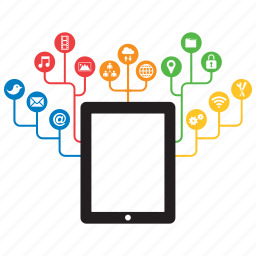 concept, connection, connectivity, device, internet, ipad, tablet icon