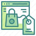 bag, commerce, online, seo, shopping, tag, web icon