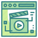 browser, movie, play, seo, video, web, website icon