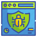 bug, protect, security, seo, virus, web, website icon