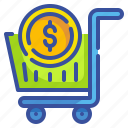 cart, coin, commerce, money, seo, shoppping, web icon
