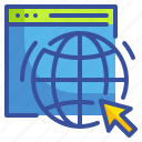 global, internet, online, seo, web, website, world icon