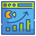 graph, growth, presentation, seo, web, website icon