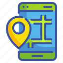app, gps, location, map, phone, seo, web icon