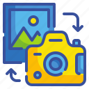 camera, photo, photograph, seo, transfer, web, website icon