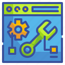 edit, maintenance, repair, seo, setting, web, wrench icon