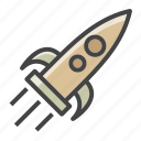 project launch, rocket, seo, startup, web icon