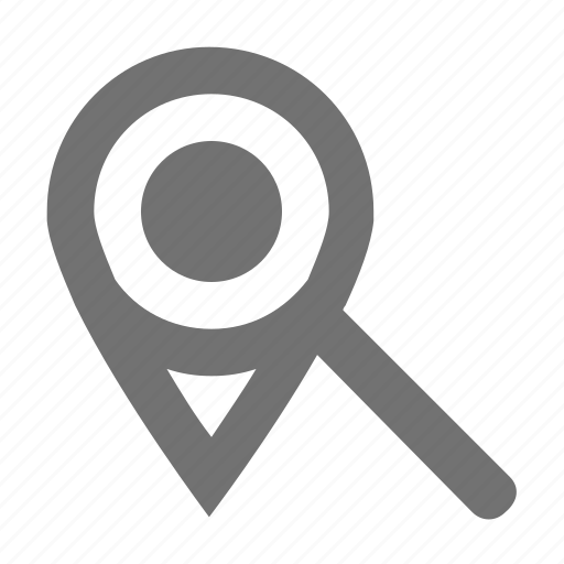 find location, location pointer, magnifier, map pin, searching location icon