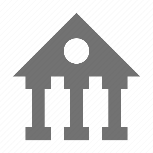 bank, bank building, financial institute, real estate, stock exchange icon