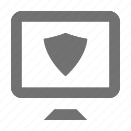 antivirus, computer firewall, computer security, monitor, shield icon