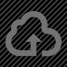 cloud arrow, up sign, upload, uploading, upward icon