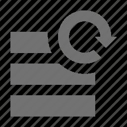 data, refresh, server, server synchronization, sync icon