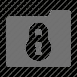 folder and padlock, folder protection, safe documents, safe files, secure files icon