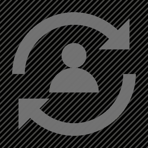 loading arrows, profile, profile synchronization, sync, synchronization icon