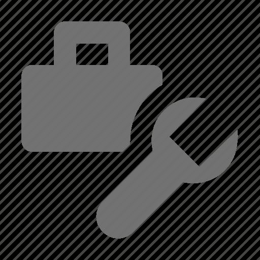 briefcase, business bag, finance settings, garage tool, repair tool icon