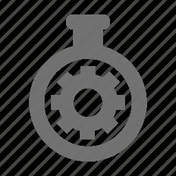 chronometer arrow, chronometer cog, cogwheel, compass setting, gear icon